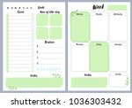 notebook pages  daily and... | Shutterstock .eps vector #1036303432