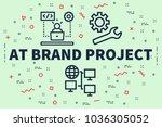 conceptual business... | Shutterstock . vector #1036305052