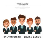 business people teamwork with... | Shutterstock .eps vector #1036311598