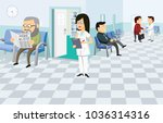 waiting room in the hospital....   Shutterstock .eps vector #1036314316