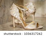 bridal wedding sandal shoes... | Shutterstock . vector #1036317262