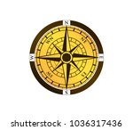 compass wind rose travel... | Shutterstock .eps vector #1036317436