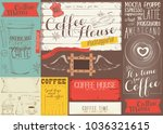 coffee menu placemat design.... | Shutterstock .eps vector #1036321615