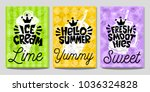 colorful logo emblem sign label ... | Shutterstock .eps vector #1036324828