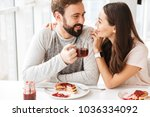 beautiful young couple having... | Shutterstock . vector #1036334092