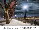 the southbank in london  uk ...   Shutterstock . vector #1036334152