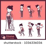 2tone type mother holding a...   Shutterstock .eps vector #1036336036