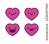 happy heart emojis   Shutterstock .eps vector #1036337965