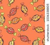 trendy background. on orange ... | Shutterstock . vector #1036338805