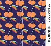 cute cherry seamless pattern.... | Shutterstock .eps vector #1036340692