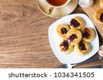 english scones with cream and... | Shutterstock . vector #1036341505