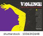 young abused woman trying to...   Shutterstock .eps vector #1036342648