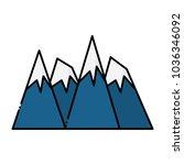 alps peakes icon    Shutterstock .eps vector #1036346092