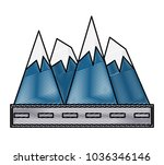 road and alps peaks icon    Shutterstock .eps vector #1036346146