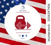 kettlebell and barbell icon | Shutterstock .eps vector #1036347406