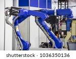 industry 4.0 robot concept .the ... | Shutterstock . vector #1036350136
