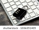 white keyboard. peripherals.... | Shutterstock . vector #1036351405