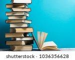 open book  hardback books on...   Shutterstock . vector #1036356628