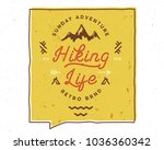 hiking life inspiring creative... | Shutterstock .eps vector #1036360342