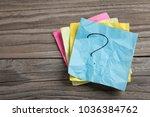 handwritten question mark on... | Shutterstock . vector #1036384762