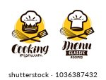 cooking  cuisine logo. label... | Shutterstock .eps vector #1036387432