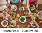 eating and leisure concept  ... | Shutterstock . vector #1036395706