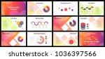 business presentation templates.... | Shutterstock .eps vector #1036397566
