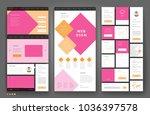 website template design with... | Shutterstock .eps vector #1036397578