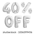 forty percent off discount.... | Shutterstock . vector #1036399456