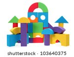 the toy castle from color... | Shutterstock . vector #103640375
