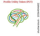 vector profile utility token ... | Shutterstock .eps vector #1036404682