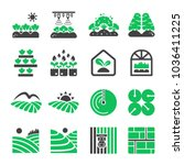 plantation agriculture icon set | Shutterstock .eps vector #1036411225