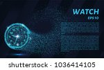 watch from particles. watch... | Shutterstock .eps vector #1036414105
