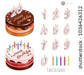 cake designer  festive cake... | Shutterstock .eps vector #1036426312