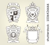 coat of arms templates  ... | Shutterstock .eps vector #1036426666