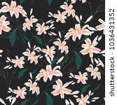 trendy floral pattern with... | Shutterstock .eps vector #1036431352