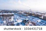 Aerial Winter View Of Kiruna ...