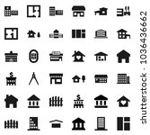 flat vector icon set  ... | Shutterstock .eps vector #1036436662