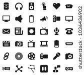 flat vector icon set   cinema... | Shutterstock .eps vector #1036436902