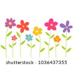 colorful spring flowers. vector ...   Shutterstock .eps vector #1036437355
