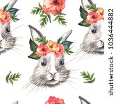watercolor pattern with easter... | Shutterstock . vector #1036444882