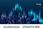 abstract sound wave vector... | Shutterstock .eps vector #1036452388