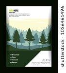 forest brochure infographic | Shutterstock .eps vector #1036461496