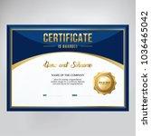 certificate design  template... | Shutterstock .eps vector #1036465042