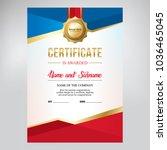 certificate design  for sports... | Shutterstock .eps vector #1036465045
