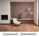 modern brown winter concept... | Shutterstock . vector #1036466632