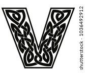 letter of the english alphabet... | Shutterstock .eps vector #1036492912