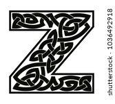 letter of the english alphabet... | Shutterstock .eps vector #1036492918