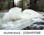 soap foam in the hammam | Shutterstock . vector #1036495588
