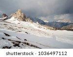 fantastic winter landscape near ... | Shutterstock . vector #1036497112